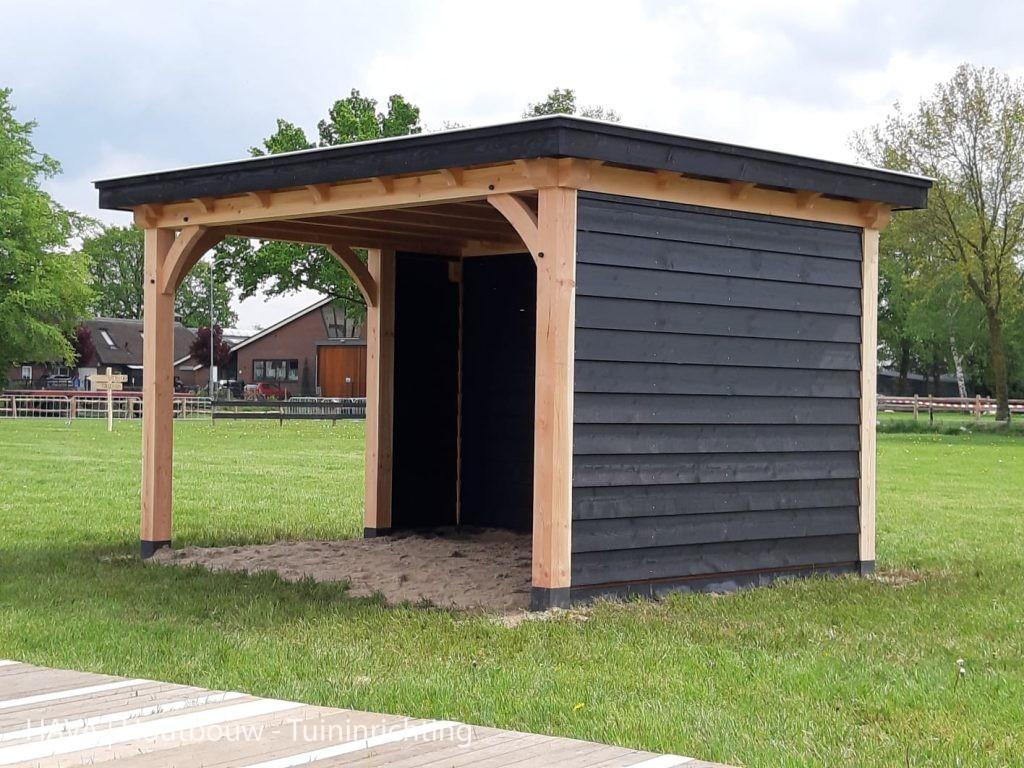 Douglas-houten-veranda-zwart