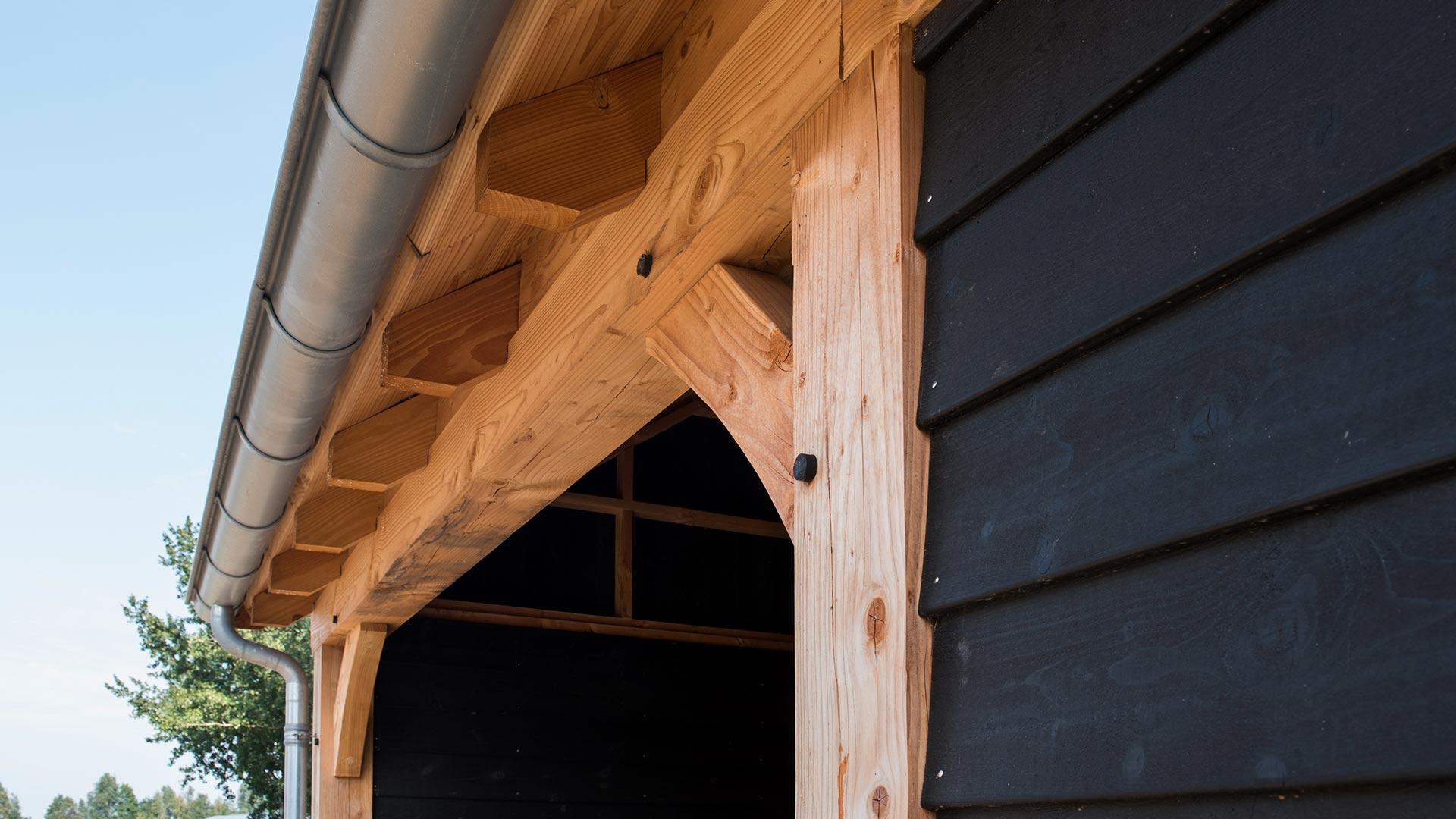 Houten schuur plat dak ontwerp