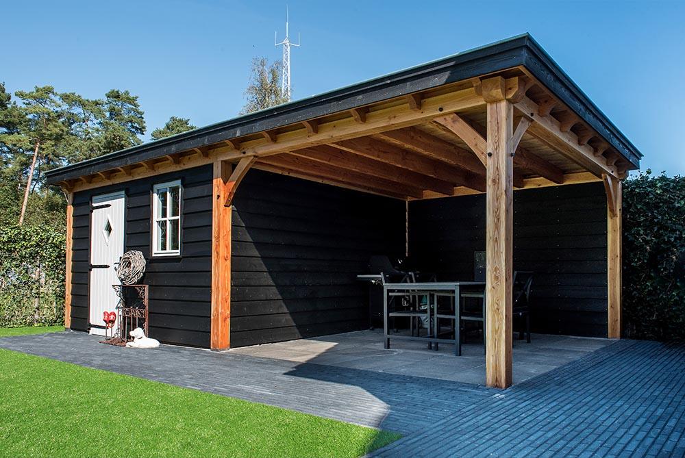 Kosten voor tuinhuis met overkapping