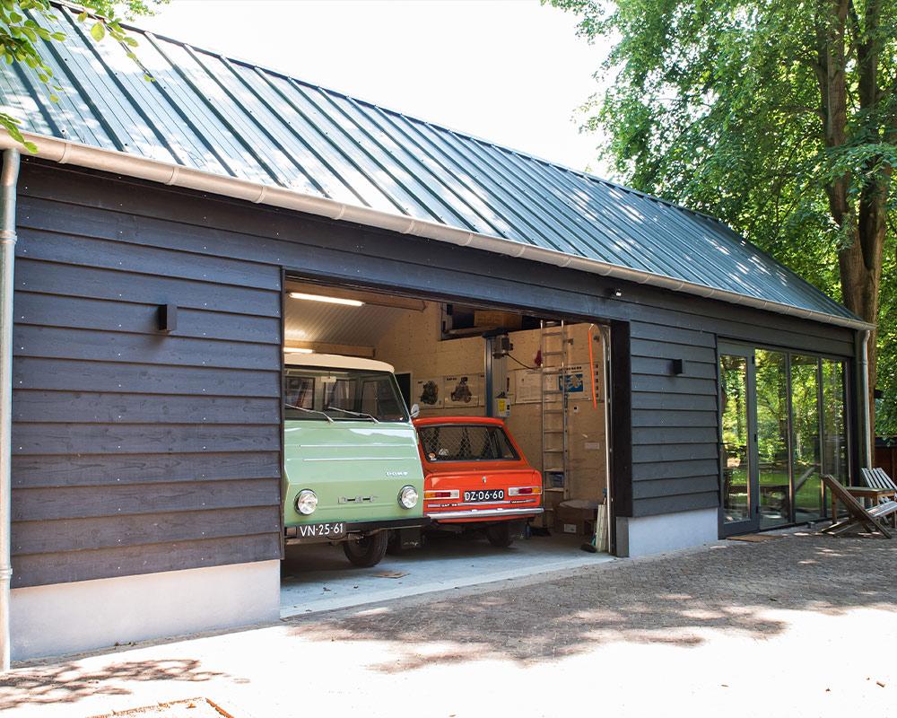 Tuinkantoor met een garage schuur Renkum